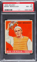 Baseball Cards:Singles (1930-1939), 1933 Goudey Benny Bengough #1 PSA NM-MT 8....