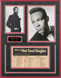 Music Memorabilia:Autographs and Signed Items, Marvin Gaye Signed Billboard Chart....