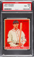 Baseball Cards:Singles (1930-1939), 1933 Goudey Paul Waner #25 PSA NM-MT 8 - None Higher....