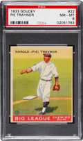 Baseball Cards:Singles (1930-1939), 1933 Goudey Pie Traynor #22 PSA NM-MT 8....