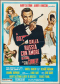 """Movie Posters:James Bond, From Russia with Love (United Artists, R-1970s). Italian 2 - Foglio (39.25"""" X 55.25""""). James Bond.. ..."""