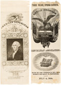Political:Ribbons & Badges, [Henry Clay]: Pair of Nativist Silk Ribbons.... (Total: 2 Items)