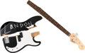 Music Memorabilia:Instruments , Mötley Crüe -- A Nikki Sixx Signed Smashed Fender Squire P-Bass Guitar from the 'Red, White, and Crüe' Tour, 2005.... (Total: 2 Items)