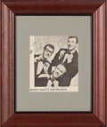 Music Memorabilia:Autographs and Signed Items, Buddy Holly & The Crickets Signed Photo from Tour Program inFramed Display. ...