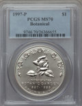 Modern Issues, 1997-P $1 Botanic Gardens Silver Dollar MS70 PCGS. PCGS Population (152). NGC Census: (232). Numismedia Wsl. Price for pro...