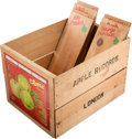 Music Memorabilia:Recordings, Beatles - Apple Records Retail Display Crate with Eight WoodenDividers....