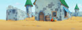 Animation Art:Production Drawing, The Smurfs Countryside Castle Pan Production Background(Hanna-Barbera, 1981). ...