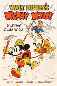 """Mickey Mouse - Alpine Climbers (United Artists, 1936). Poster (40"""" X 60"""")"""