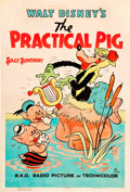 "Movie Posters:Animated, The Practical Pig (RKO, 1939). One Sheet (27"" X 41"").. ..."