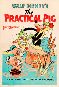 "The Practical Pig (RKO, 1939). One Sheet (27"" X 41"")"
