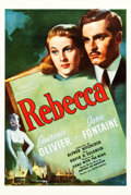 "Movie Posters:Hitchcock, Rebecca (United Artists, 1940). One Sheet (27.5"" X 41"").. ..."