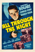 """Movie Posters:Film Noir, All Through the Night (Warner Brothers, 1942). One Sheet (27.5"""" X41"""").. ..."""
