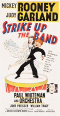 """Movie Posters:Musical, Strike Up the Band (MGM, 1940). Three Sheet (41"""" X 78.5"""") Style A,Al Hirschfeld Artwork.. ..."""
