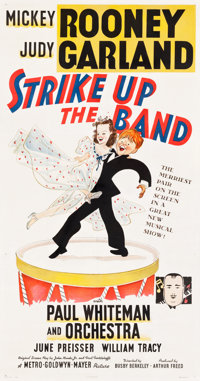 "Strike Up the Band (MGM, 1940). Three Sheet (41"" X 78.5"") Style A, Al Hirschfeld Artwork"