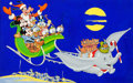 Animation Art:Production Drawing, Mickey Mouse and Friends Holiday Illustration (Walt Disney, c.1970s-80s)....