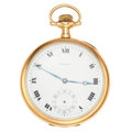Timepieces:Pocket (post 1900), E. Howard 14k Gold 17 Jewel Pocket Watch. ...