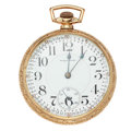 Timepieces:Pocket (post 1900), Waltham 21 Jewel Crescent St. Open Face Pocket Watch. ...