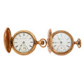 Timepieces:Pocket (post 1900), Elgin & Marvin Watch Co. 18 Size Hunter's Case Pocket Watches.... (Total: 2 Items)