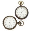 Timepieces:Pocket (pre 1900) , Rockford Key Wind & Waltham 18 Size Pocket Watches. ... (Total: 2 Items)