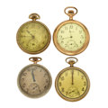 Timepieces:Pocket (post 1900), A Lot Of Four 12 Size Pocket Watches For Parts Or Repair. ... (Total: 4 Items)