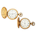 Timepieces:Pocket (post 1900), Two Waltham's 18 Size Hunter's Case Pocket Watches Runners. ...(Total: 2 Items)