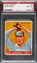 Baseball Cards:Singles (1930-1939), 1933 Goudey Eppa Rixey #74 PSA NM-MT 8....