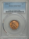 Lincoln Cents: , 1941-S 1C MS67 Red PCGS. PCGS Population (232/0). NGC Census: (985/0). Mintage: 92,360,000. Numismedia Wsl. Price for probl...