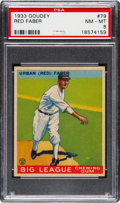 Baseball Cards:Singles (1930-1939), 1933 Goudey Red Faber #79 PSA NM-MT 8....