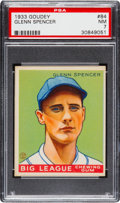 Baseball Cards:Singles (1930-1939), 1933 Goudey Glenn Spencer #84 PSA NM 7....