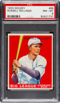 Baseball Cards:Singles (1930-1939), 1933 Goudey Russell Rollings #88 PSA NM-MT 8....