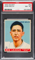 Baseball Cards:Singles (1930-1939), 1933 Goudey John Welch #93 PSA NM-MT 8....