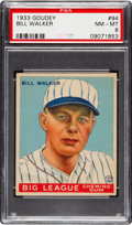 Baseball Cards:Singles (1930-1939), 1933 Goudey Bill Walker #94 PSA NM-MT 8....