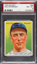 Baseball Cards:Singles (1930-1939), 1933 Goudey Walter Berger #98 PSA NM-MT 8 - None Higher!...