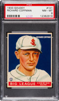 Baseball Cards:Singles (1930-1939), 1933 Goudey Richard Coffman #101 PSA NM-MT 8 - None Higher!...