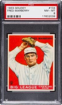 1933 Goudey Fred Marberry #104 PSA NM-MT 8