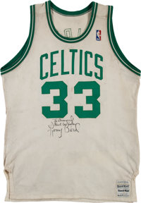 288058fa6ae 1986-87 Larry Bird Game Worn Boston Celtics Uniform.... Basketball ...