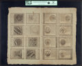 Colonial Notes:Continental Congress Issues, Continental Currency September 26, 1778 Uncut Double Pane Sheet of$60-$50-$40-$30/$20-$8-$7-$5 Blue Counterfeit Detector Note...