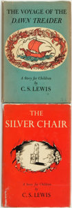 Books:Children's Books, C. S. Lewis. The Voyage of the Dawn Treader [and:] TheSilver Chair. New York: Macmillan, 1952 [and:] [1... (Total: 2Items)