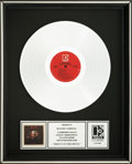 Music Memorabilia:Awards, Mötley Crüe Shout at the Devil RIAA Platinum Record Award(Elektra 60289-1, 1983). ...