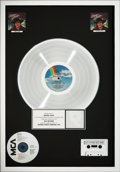 Music Memorabilia:Awards, George Strait Greatest Hits RIAA Multi-Platinum HologramRecord Award (MCA MCA-5567, 1985)....