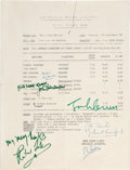 Music Memorabilia:Autographs and Signed Items, John Lennon, Richard Lester, and Others - Signed Call Sheet fromFilming of How I Won the War (Germany, 1966). ...