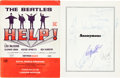 Music Memorabilia:Autographs and Signed Items, Beatles - Help! Film Program Signed by Paul, George, Ringo& Others (1965)....