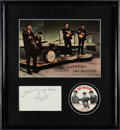 Music Memorabilia:Photos, Beatles - Autographed Display...