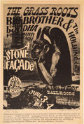 "Music Memorabilia:Posters, Grass Roots/Big Brother and the Holding Company ""Stone Facade""Avalon Ballroom Concert Poster #FD-11 (Family Dog, 1966)...."