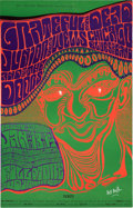 Music Memorabilia:Posters, Grateful Dead/ The Doors/ Junior Wells Fillmore Auditorium ConcertPoster BG-45 Signed By Wes Wilson (Bill Graham, 1967)....