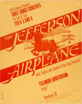 Music Memorabilia:Posters, Jefferson Airplane Fillmore Auditorium Concert Poster BG-1 (BillGraham, 1966)....