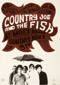 Music Memorabilia:Posters, Country Joe and the Fish Moe's Books Concert Poster (1966)....