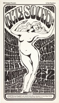 "Music Memorabilia:Posters, Jefferson Airplane ""The Sound"" Winterland and Fillmore ConcertPoster BG-29 (Bill Graham, 1966)...."
