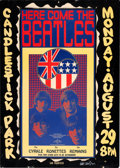 Music Memorabilia:Posters, Beatles Candlestick Park Concert Poster Signed by Artist Wes Wilson(1966)....