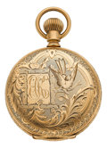 Timepieces:Pocket (pre 1900) , Elgin Rare Gold 21 Jewel Grade 91 Convertible, circa 1882. ...